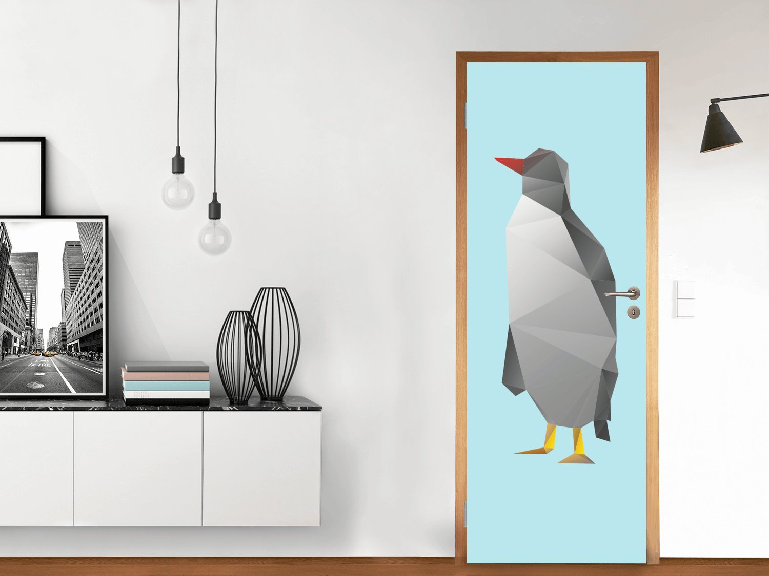 Door 71x197 cm | Tattoo Decoration Vinyl Film Wall Art - Removable - Interior Design | Various Designs creatisto GmbH