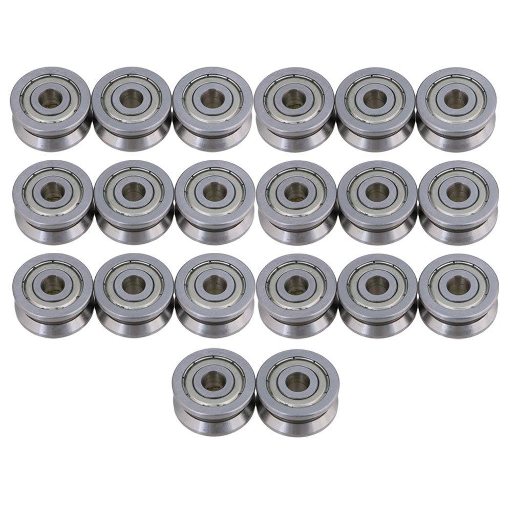 cnbtr 8 x 30 x 14 mm Forma V Sealed gu/ía polea Rail Gu/ía de rodamiento de bolas para cil/índrico plateado