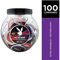 VITROLERO CONDONES PLAYBOY 100 PZAS (50 EXSENS Y 50 TEXT)
