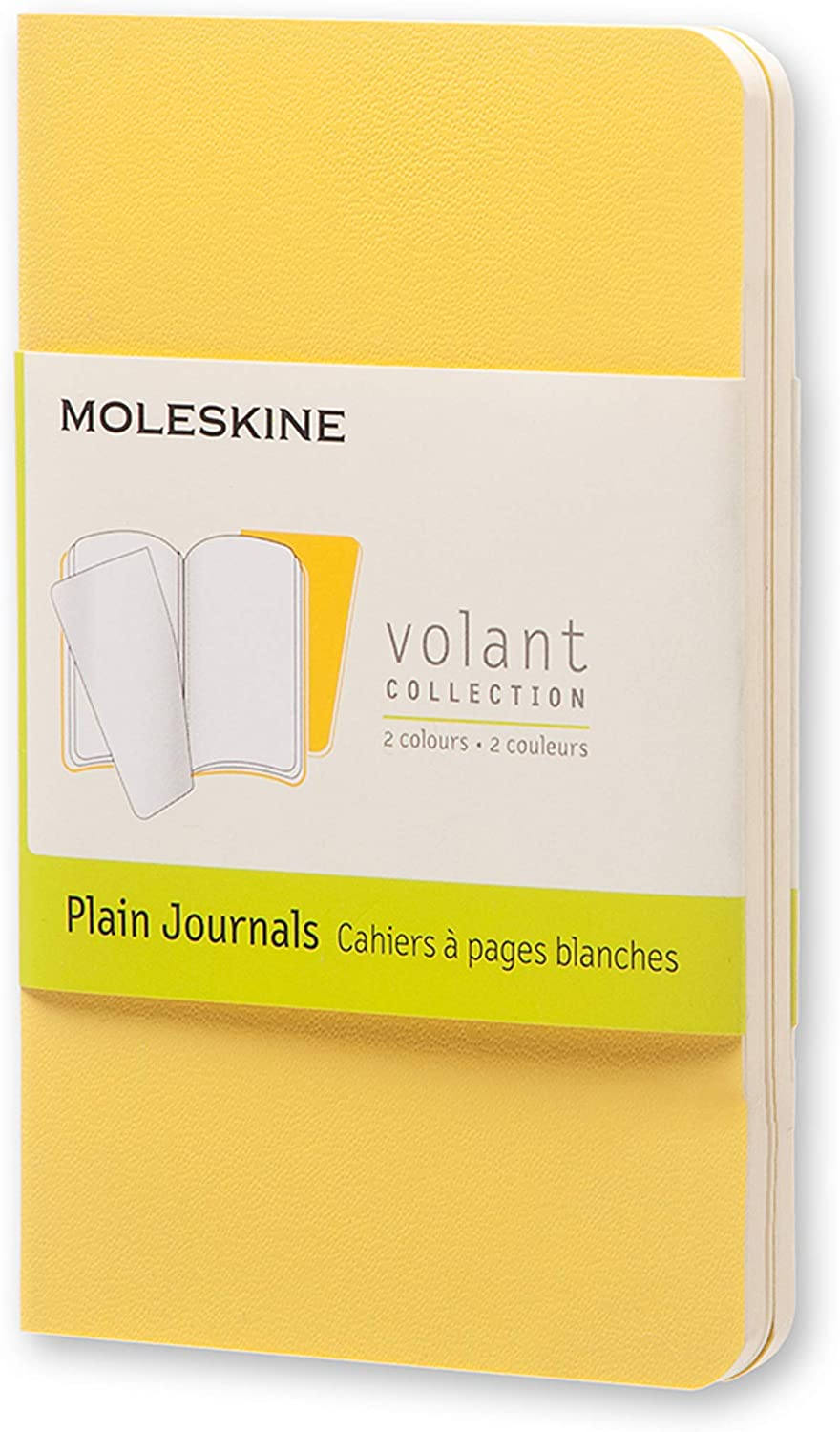 Moleskine Quaderno Cahier Journal Volant Collection, Xs, Pagina Bianca, Giallo