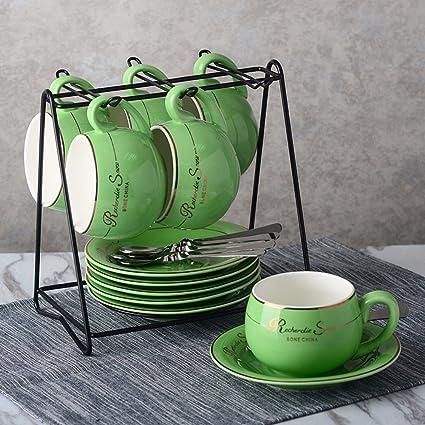 LY-coffee cup Taza de café Creativa de Color Caramelo Taza Taza de café Europea