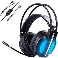 Morease Casque Gaming PS4 Micro Casque Gamer - Audio Haute Qualité - Vibrations Intégrées -Microphone à Réduction du Bruit