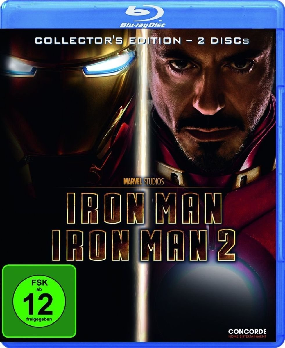 Iron Man 1+2 [Alemania] [Blu-ray]: Amazon.es: Downey, Robert Jr., Paltrow, Gwyneth, Jackson, Samuel L., Favreau, Jon, Downey, Robert Jr., Paltrow, Gwyneth: Cine y Series TV