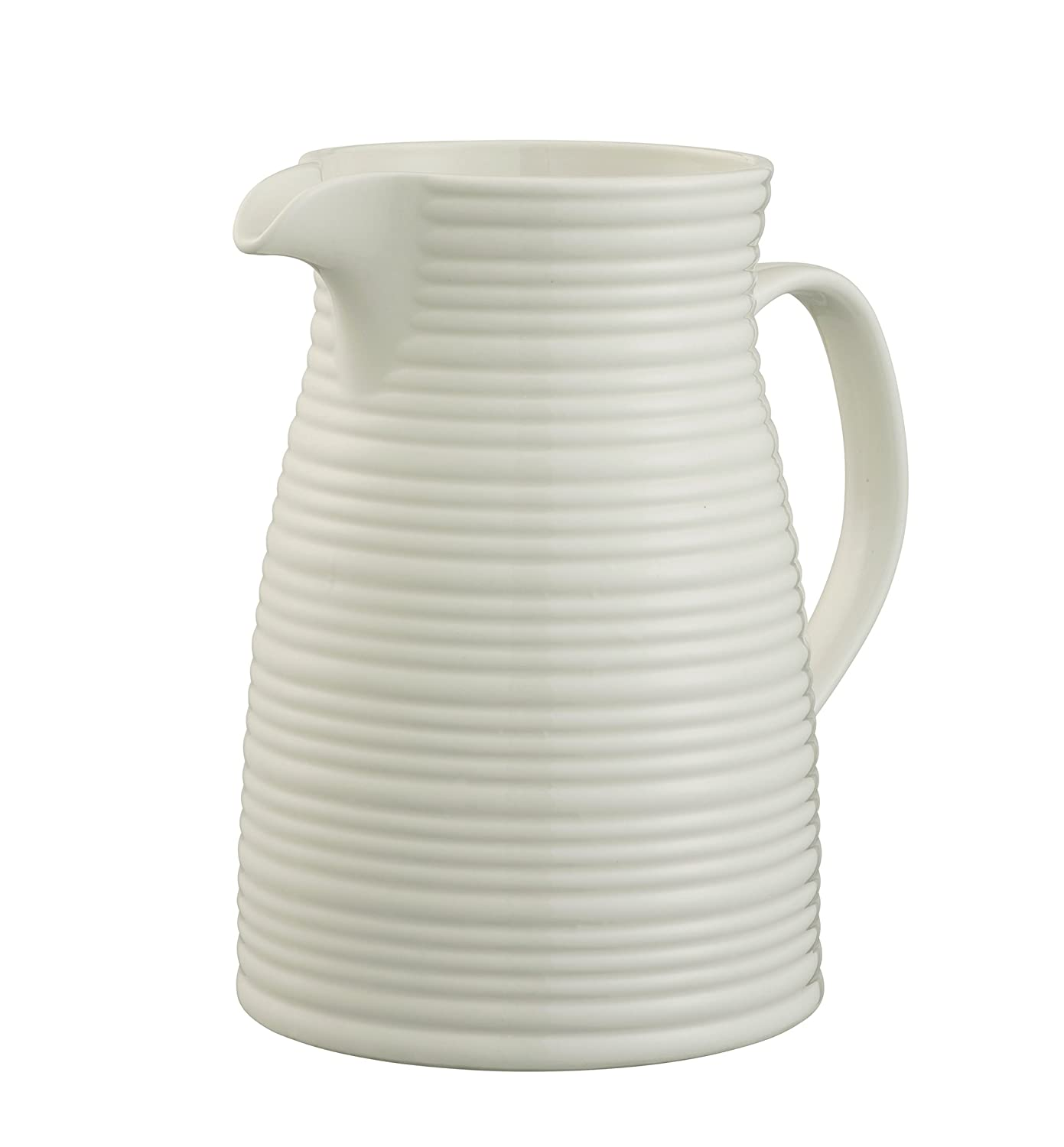 Belleek Pottery Ripple Jug, White 7977