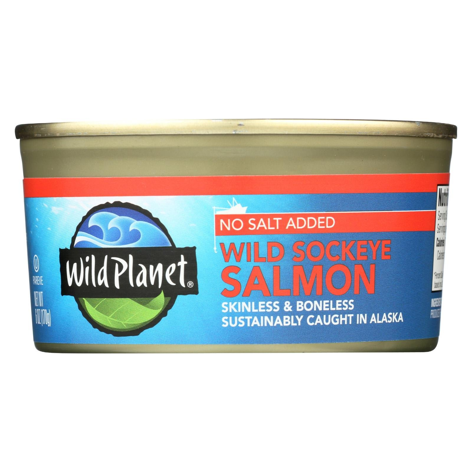 Wild Planet Salmon,Wld Sockeye,Ns 6 Oz (Pack Of 12)