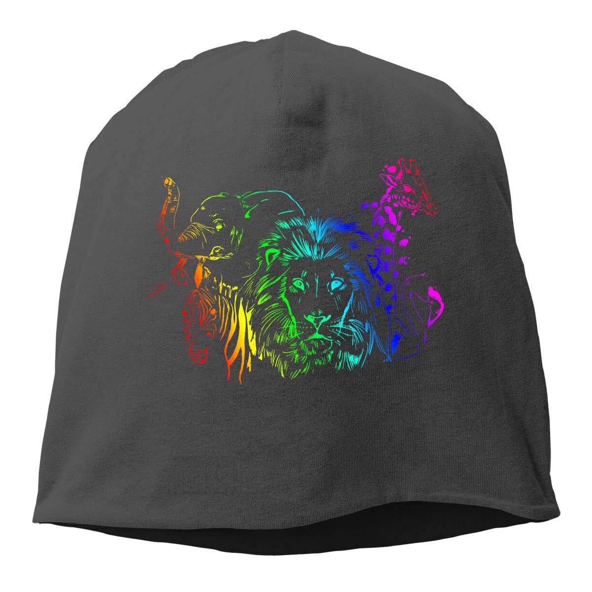 African Animals Men /& Women Winter Skull Cap Hiking Beanie Hat
