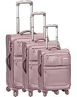 Set de 3 valises chariot 4 roues pro-confort