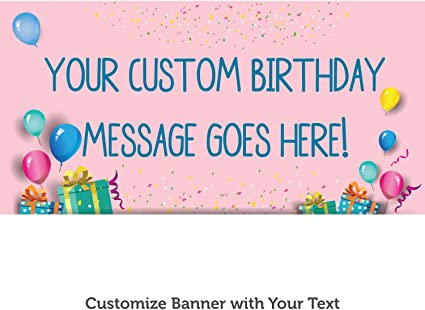 Thick Durable Waterproof Birthday Banner Personalised PVC Banner