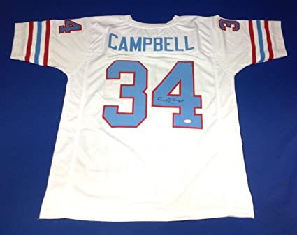 finest selection 03dd6 98882 Earl Campbell Signed Jersey - COA #W883829 - JSA Certified ...