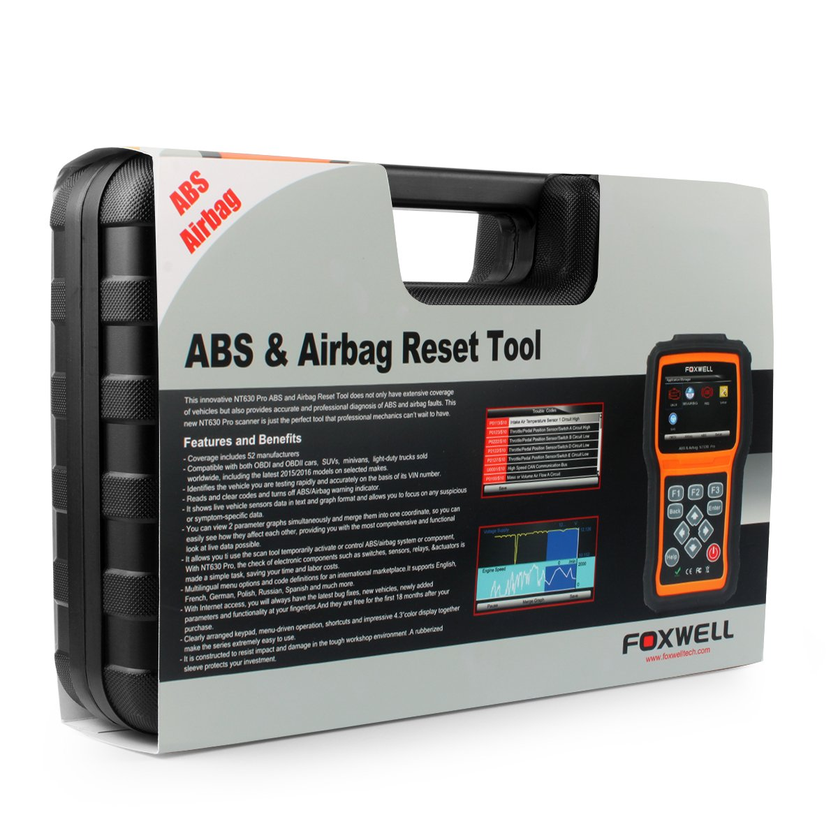 FOXWELL NT630 Scan Tool Engine / ABS / Airbag / SAS Crash Data Reset Tool  Code Reader Car Diagnostic Scanner by FOXWELL (Image #8)