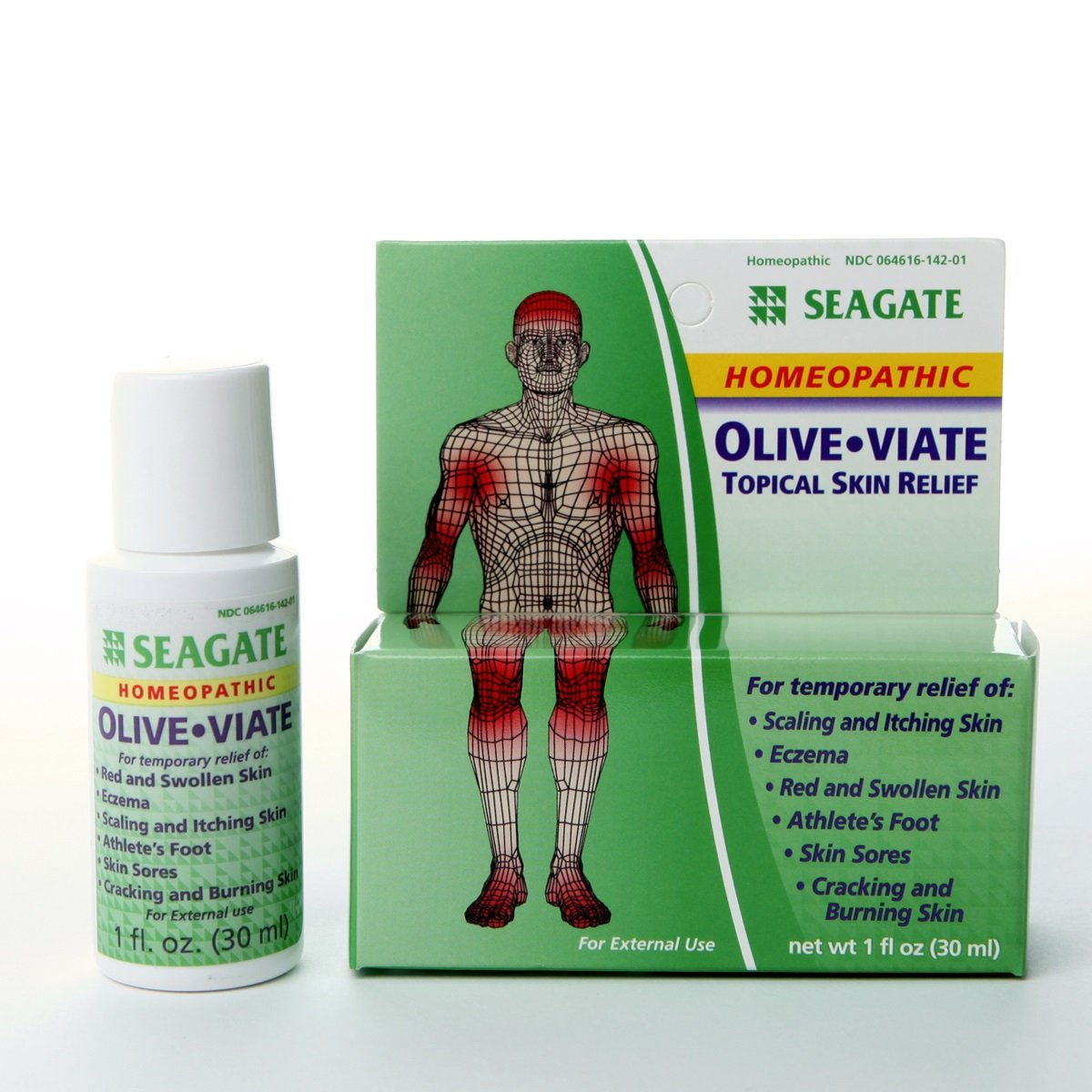 Seagate Products Homeopathic OliveViate Anti-Fungal Topical Skin Relief 1 Fl Oz
