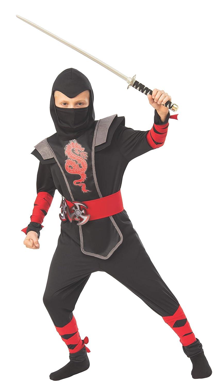 Amazon.com: Rubies Red Ninja Boys Child Fighter Costume ...