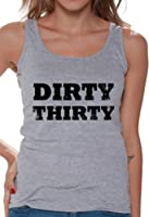 Awkward Styles Women's Dirty Thirty Tank Tops Black Vintage Funny Birthday Party