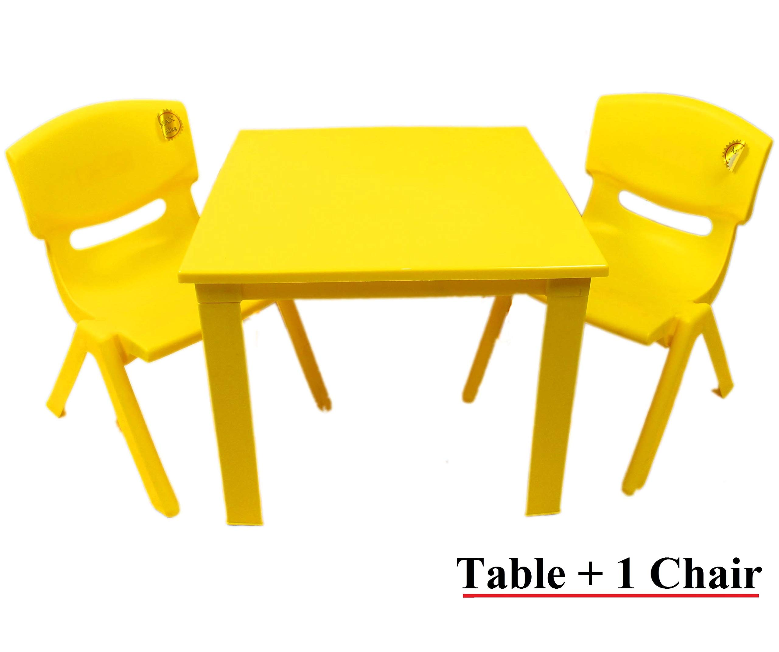 Kids Childrens Plastic Garden or Inside table and chairs set for Boys and Girls Red Blue Green Pink