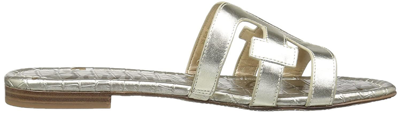 Sam Edelman Women's Bay Slide Sandal B0762SWDTZ 5.5 B(M) US|Jute Metallic Leather