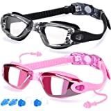 Elimoons Swim Goggles for Men Women Kids Youth Adult, Swimming Goggles for Child, No Leaking Anti Fog UV Protection Triathlon