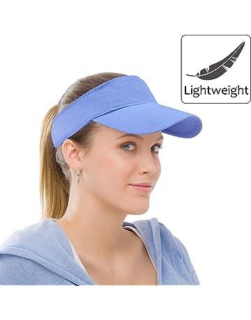 0c790918 Sun Visor Sports Cotton Twill Plain Hat with Adjustable Strap for Men Women  Outdoor Golf Tennis