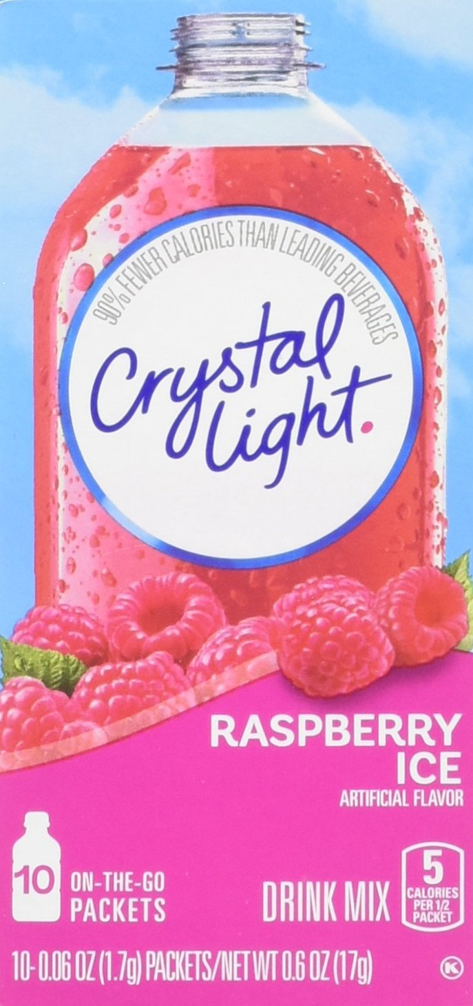 Amazon Com Crystal Light Raspberry Ice Drink Mix 12
