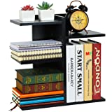 PAG Wood Desktop Shelf Small Bookshelf Assembled Countertop Bookcase Literature Holder Accessories Display Rack Office Suppli