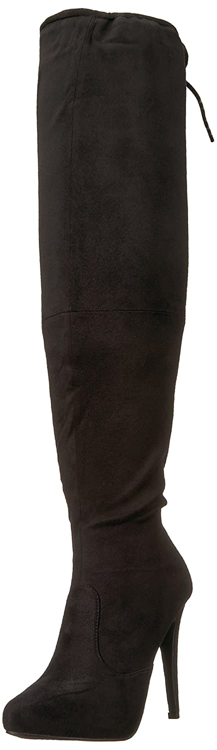 Brinley Co Women's Trick Over The Knee Boot B012U0G35S 7 B(M) US|Black