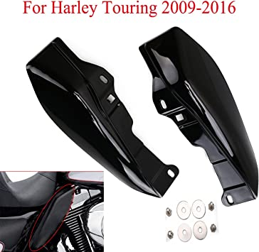 Black Front Mid-Frame Air Deflector Trim For Harley Touring Street Glide FLHX 2009-2016