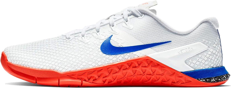 Nike Women's Metcon 4 Xd Training Shoe (5.5, White/Racer Blue-Flash Crimson-sail)