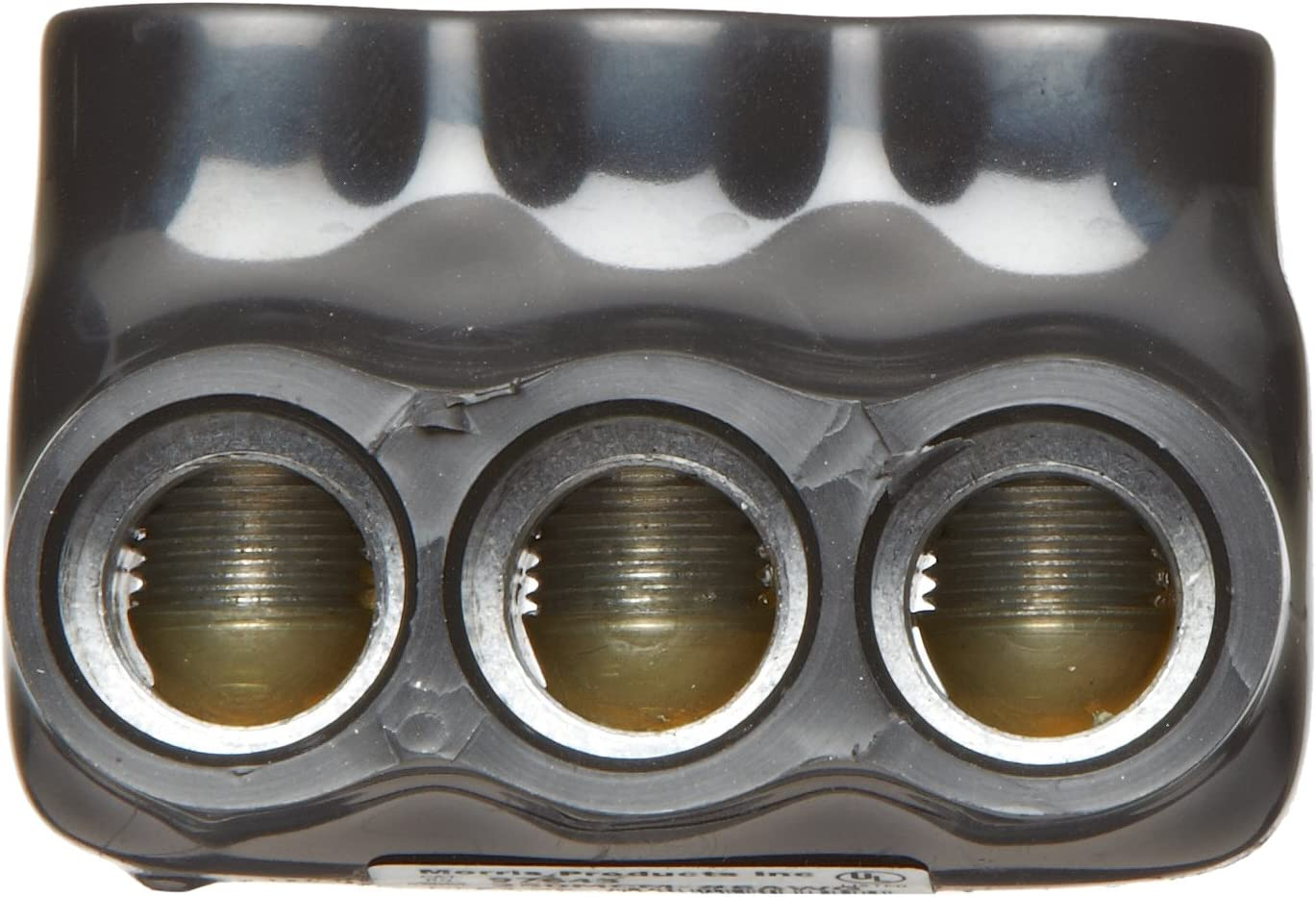 6 Ports Dual Entry Black 3//8 Allen Hex Morris Products 97876 Mountable Multi-Cable Connector 750-250 Wire Range Insulated