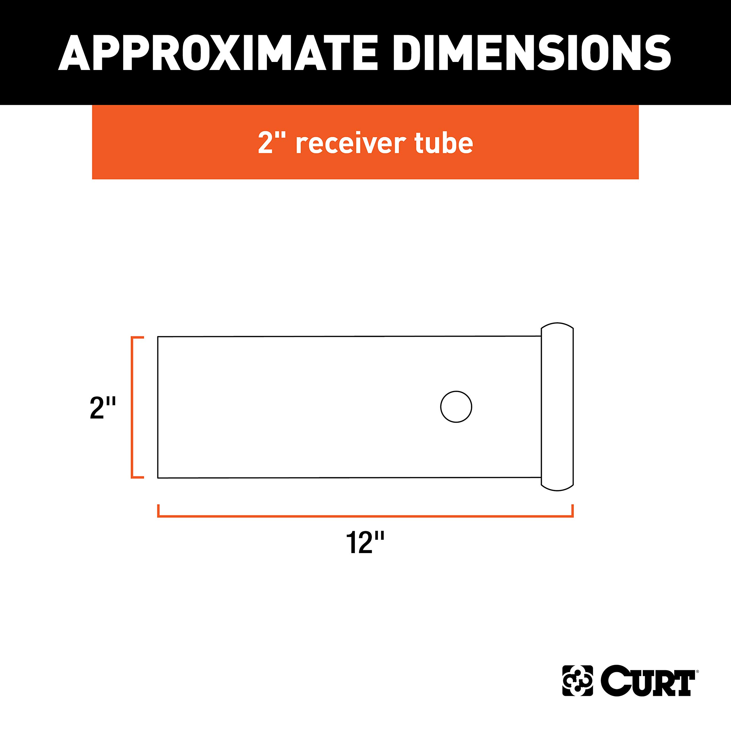 Curt Manufacturing 49512 12 In Receiver Tube 1 1//4 In X 1 1//4 In Raw Finish