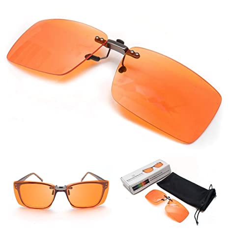 6608ef37dd1 Amazon.com  Clip On Blue Blocker Computer Glasses Lenses