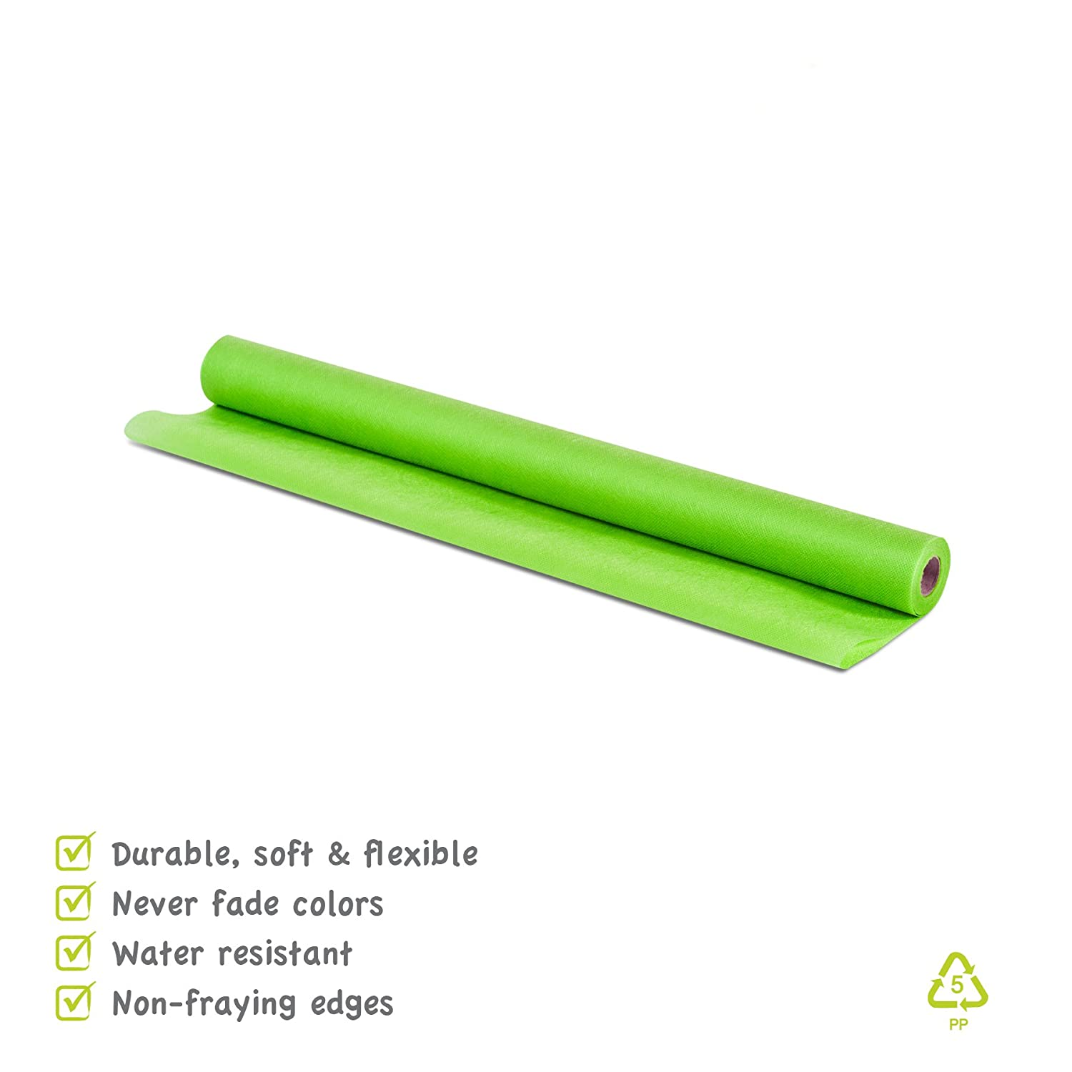 White 29 Colors Available Creative Ideas 6-Inch by 25 Yards 75 Feet Apple Green