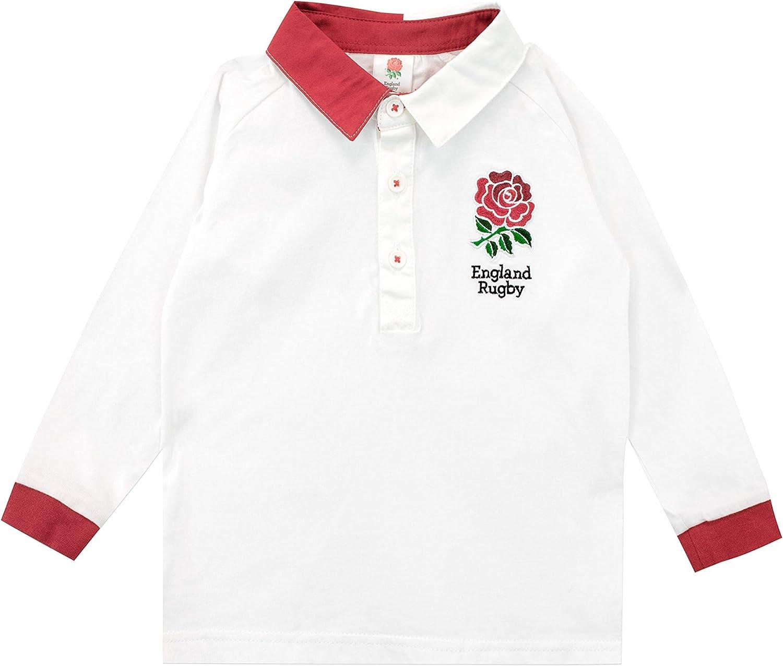 England Rugby Camiseta de Manga Larga para Niños Bebés RFU: Amazon ...