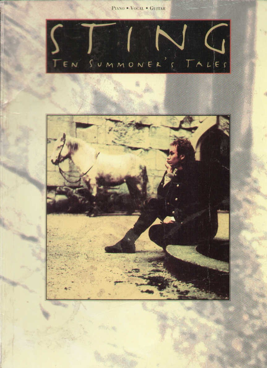 Amazon Com Ten Summoner S Tales Piano Vocal Guitar 9780711936171 Sting Books