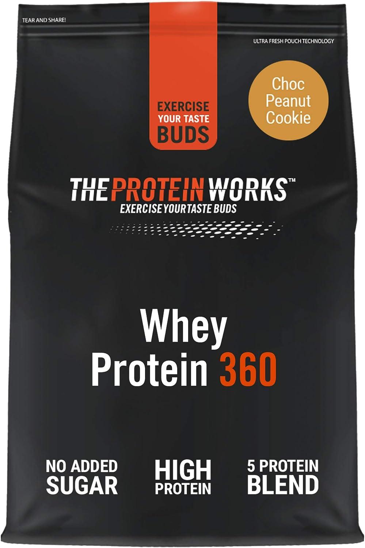 Whey Protein 360 |Combinación TRI-Proteica, Batido Alto En Proteínas Para Construir Músculo| THE PROTEIN WORKS, Galleta de Chocolate y Cacahuete, ...