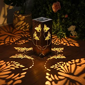 Solar Lantern Light Garden Hanging Lantern Waterproof Butterfly Solar Outdoor Light for Patio Pathway Landscape Courtyard Decoration