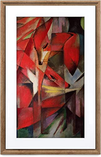 Meural Canvas II The Smart Art Frame with 21.5 in. HD Digital Canvas That Renders Images and Photography in Lifelike Detail 16X24 Dark Wood Frame WiFi-Connected Powered by NETGEAR MC321HW