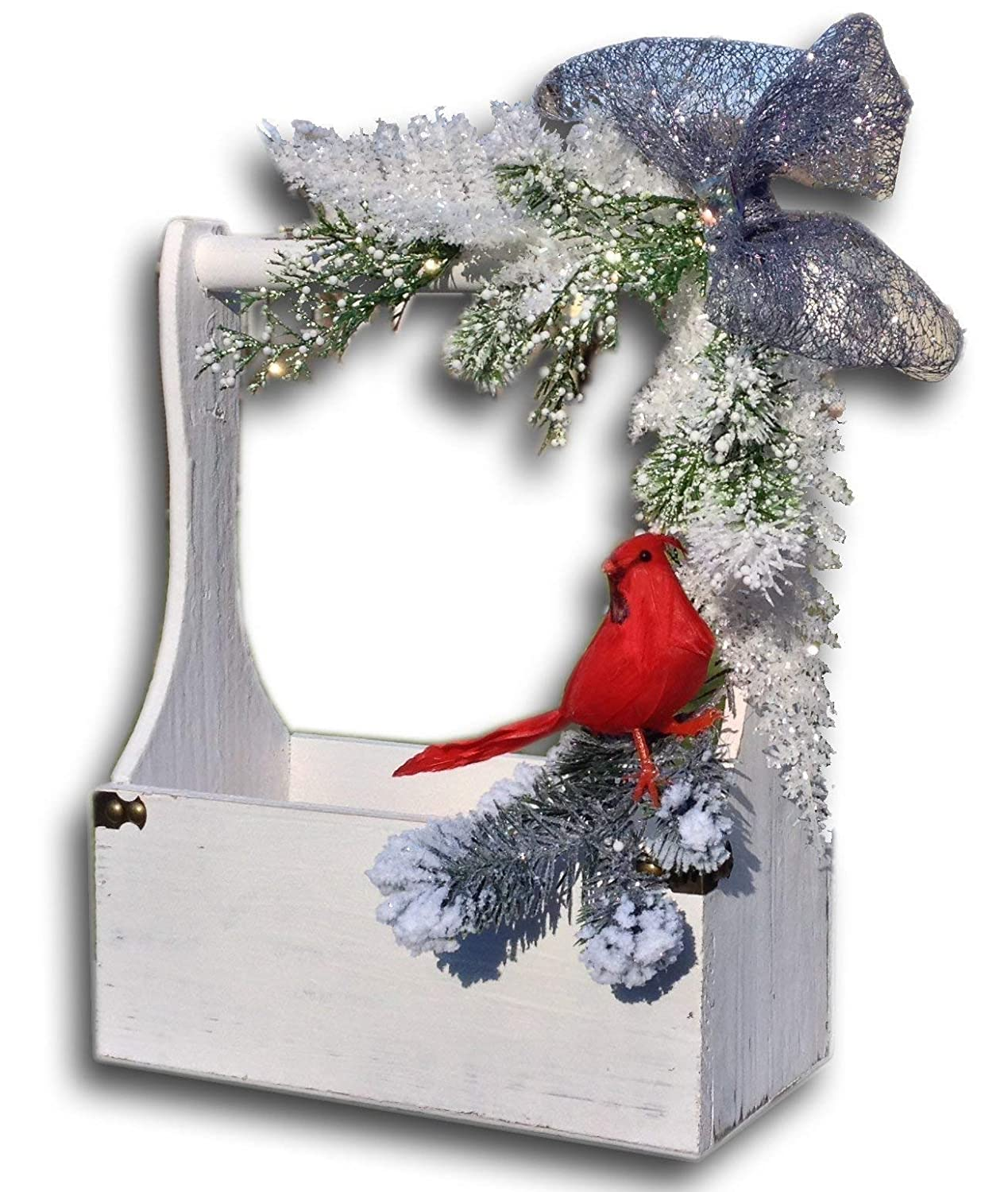 Red /& Grey Winter Card Post Box Personalised Wedding Sign