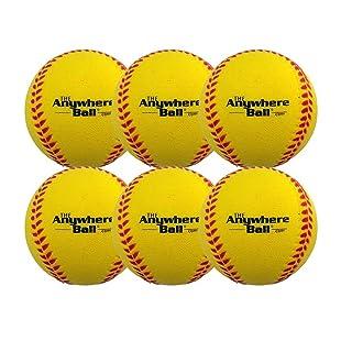 The Anywhere Ball Baseball & Softball Foam Training Ball (6 Pack Bundle)