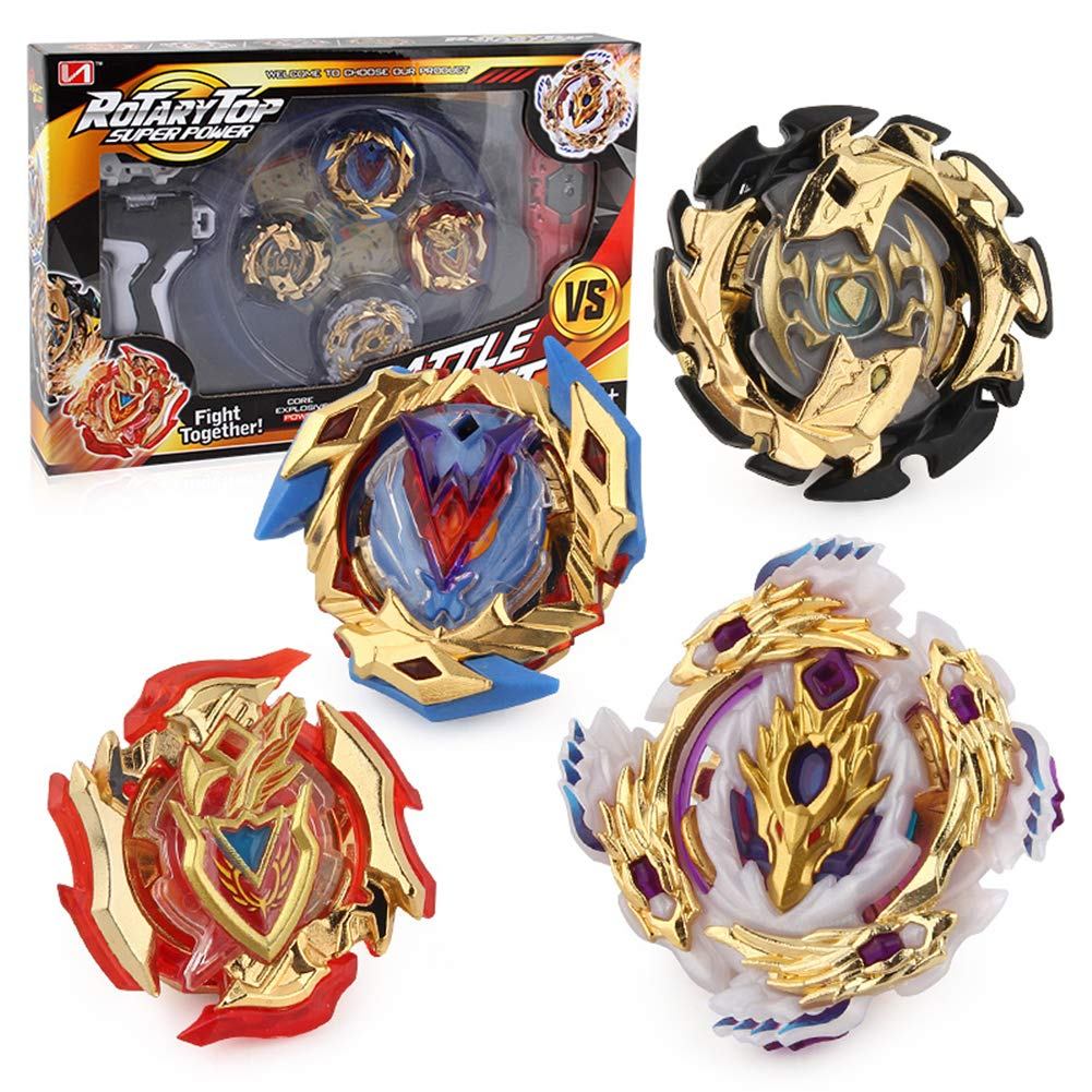 Burst 4D Set with Launcher and Arena Metal Fight Battle Fusion Classic Toys for Kids Birthday by Litchi