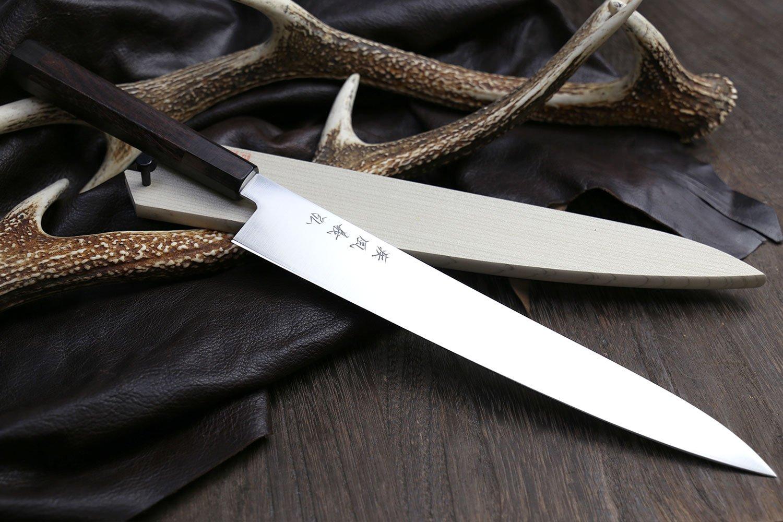 YOSHIHIRO Ice Hardened High Carbon Stainless Steel Wa Sujihiki (Slicer) Japanese Sushi Sashimi Chef Knife 10.5'' (270mm)