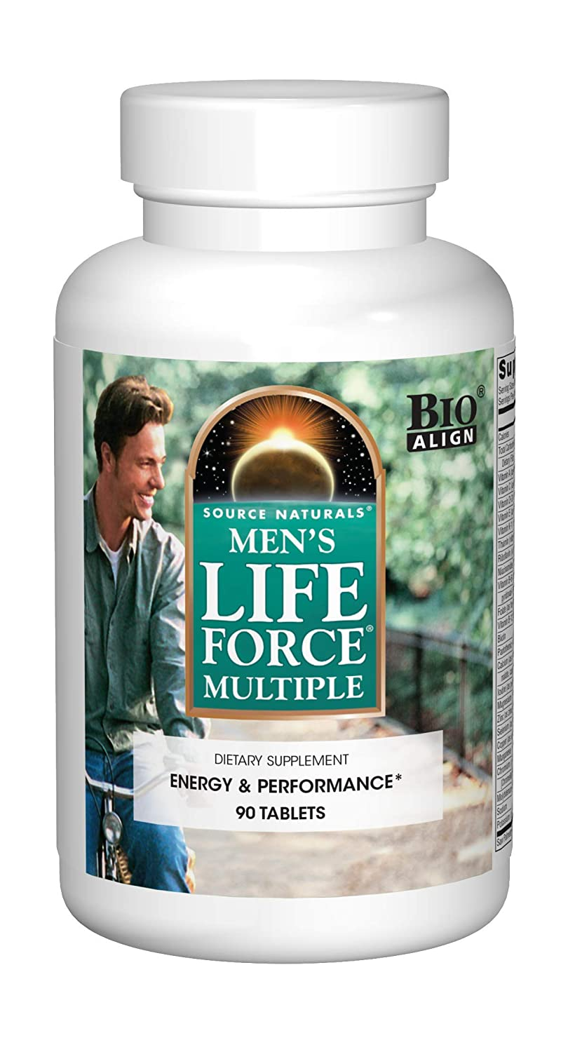 Source Naturals Men s Life Force Multiple Daily Multivitamin Immune Health Supplement – 13 Essential Vitamins, Nutrients Minerals – 90 Tablets