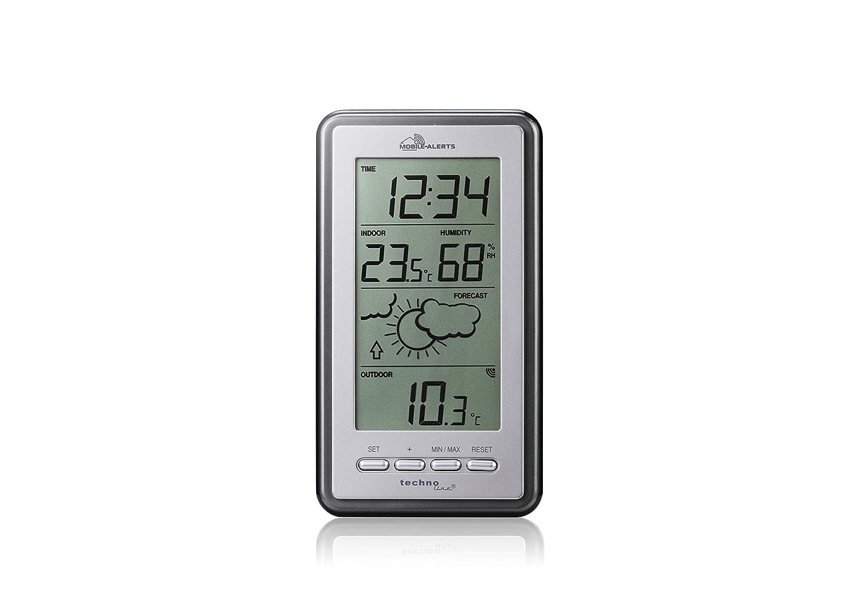 Technoline Smart Home MA10430 Weather Station Mobile Alerts 8.2 x 2.3 x 15 cm Silver//Grey