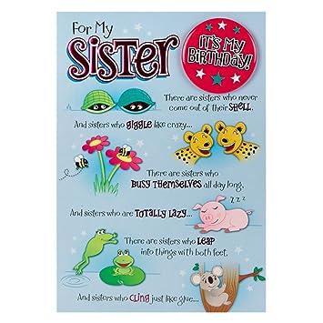 Hallmark Birthday Card For Sister Its My Birthday Badge Medium