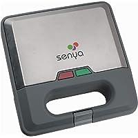 Senya SYCK-WM012 wafelijzer, wafelijzer, 3 wisselplaten, wapen-party, aluminium, grijs