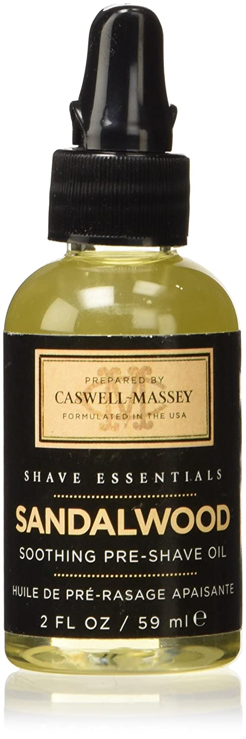 Caswell-Massey Sandalwood Pre-Shave Oil, 2-Ounce 17-30130
