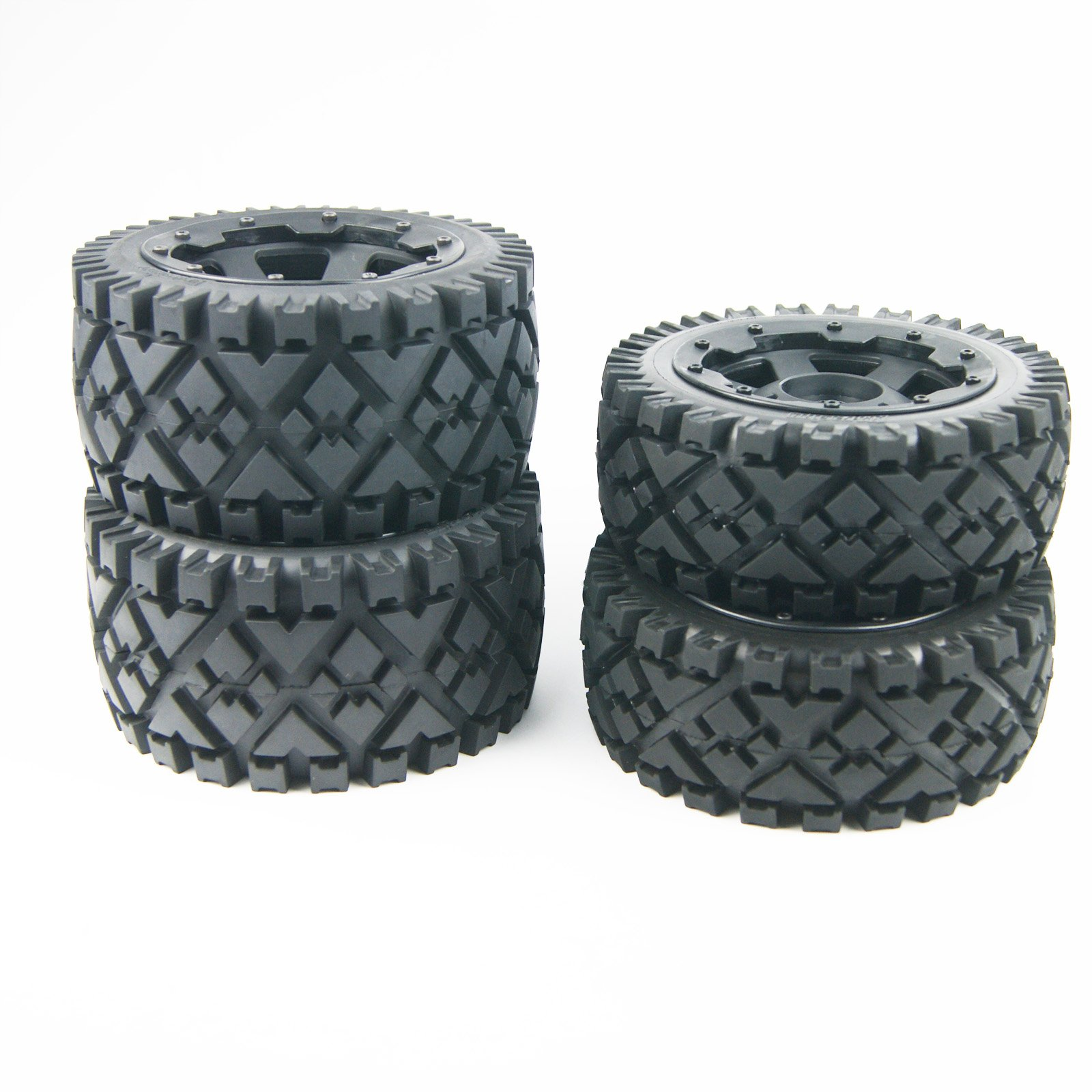Front Rear All Terrain Tyre tire Wheel for Rovan King Motor HPI baja 5b SS