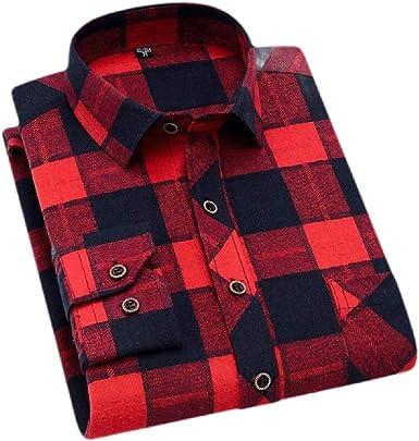 Joe Wenko Mens Plaid Slim Flannel Long-Sleeve Button-Down Shirt