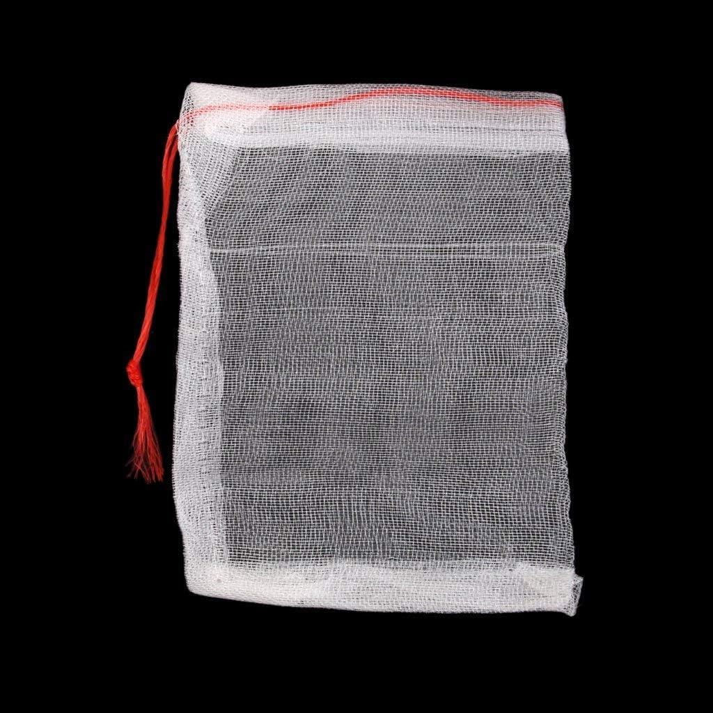 Lyanther 20er Kordelzug Nylon Mesh Filtermedium Tasche f/ür Aquarium Gartenteich 150 x 100mm