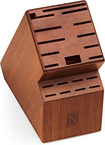 Cook N Home knife storage block, 20 slots, Acacia wood