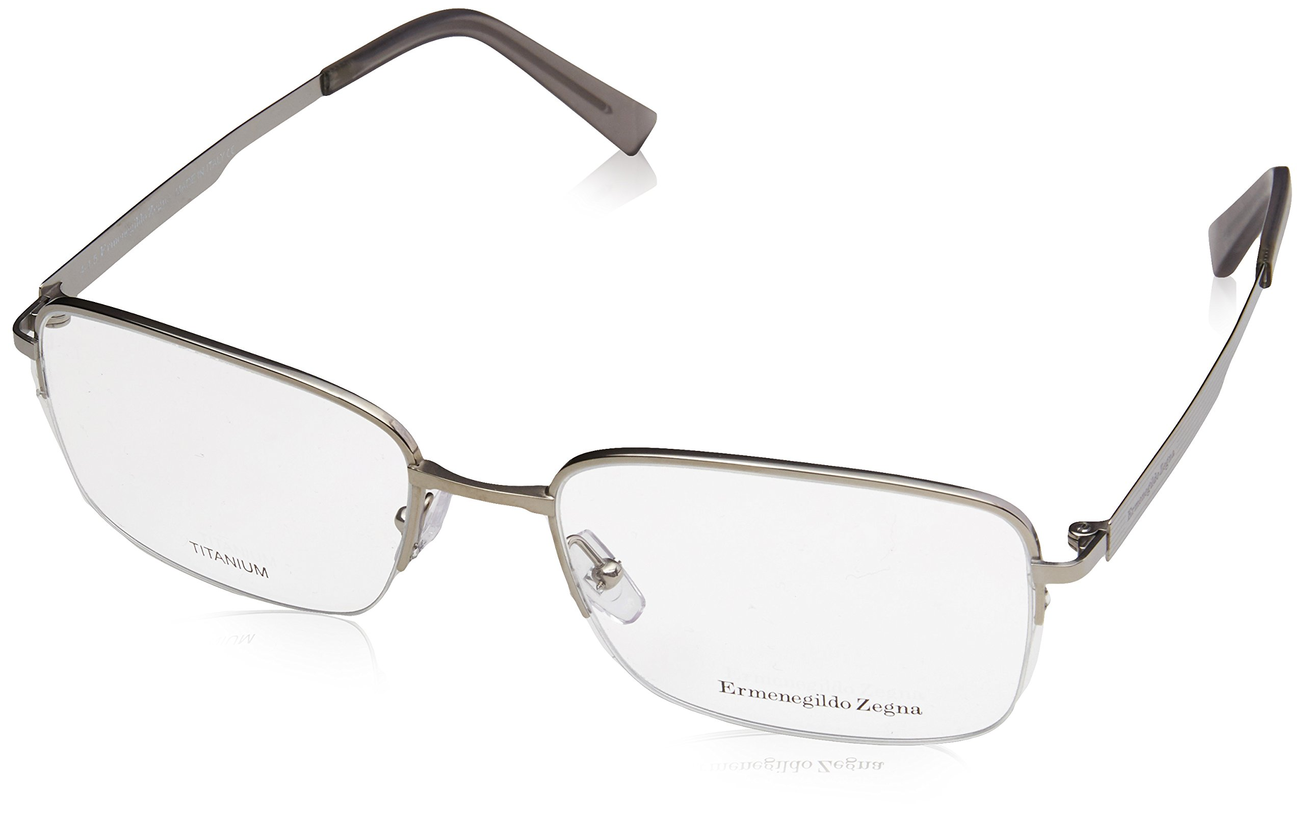 ERMENEGILDO ZEGNA Eyeglasses EZ5025 015 Matte Light Ruthenium