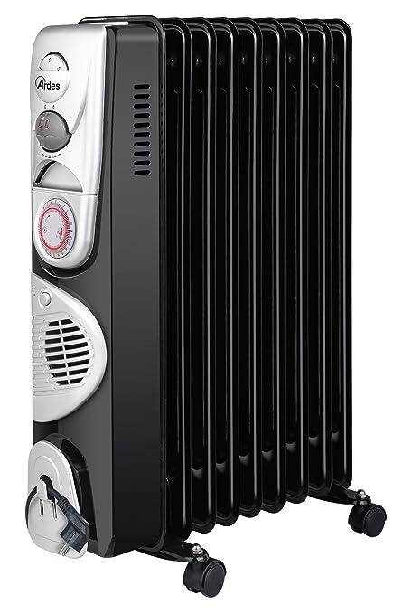 Ardes ar4r09btt Radiador de aceite eléctrico con 9 Elementos, 3 Potenze con función turbo,
